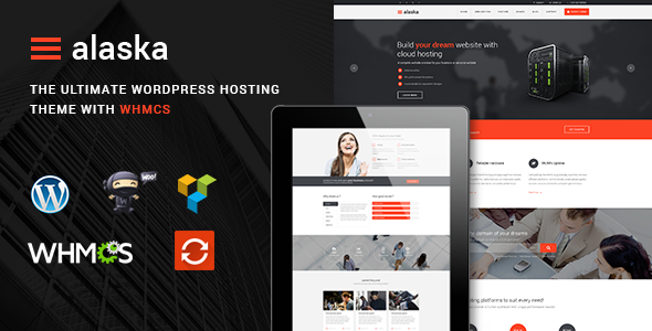 ThemeForest - Alaska v3.1.5 - SEO WHMCS Hosting, Shop, Business WordPress Theme