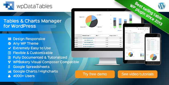 CodeCanyon - wpDataTables v1.7 - Tables and Charts Manager WordPress Plugin
