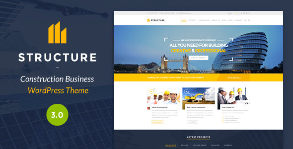 ThemeForest - Structure v3.1.2 - Construction WordPress Theme