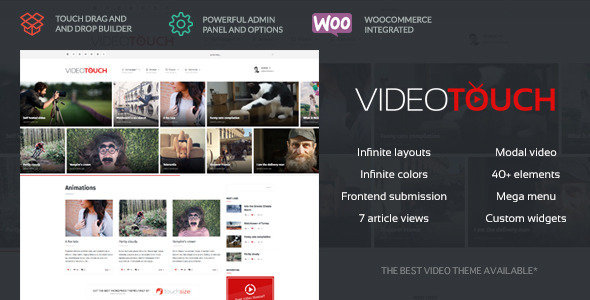 ThemeForest - VideoTouch v1.8.1 - Video WordPress Theme