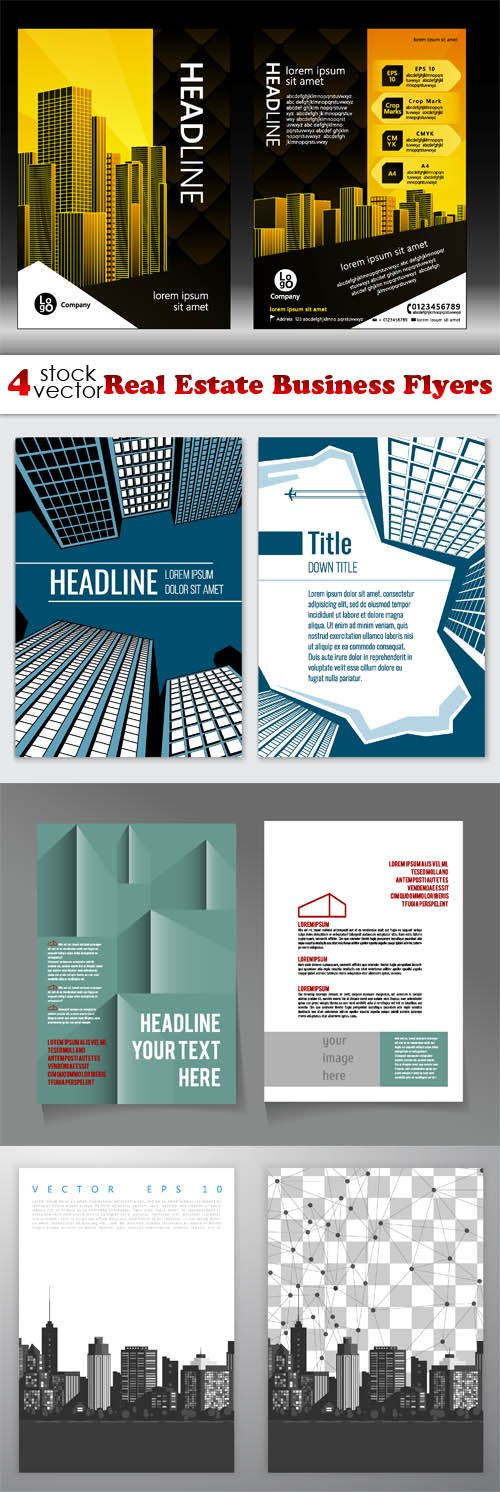 Vectors - Real Estate Business Flyers