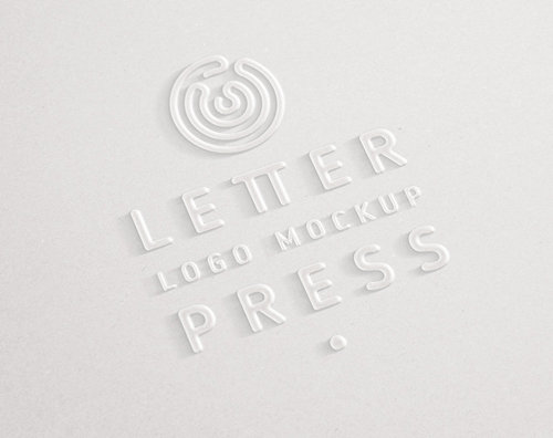 Embossed 3D Logo Mock-Up Template PSD