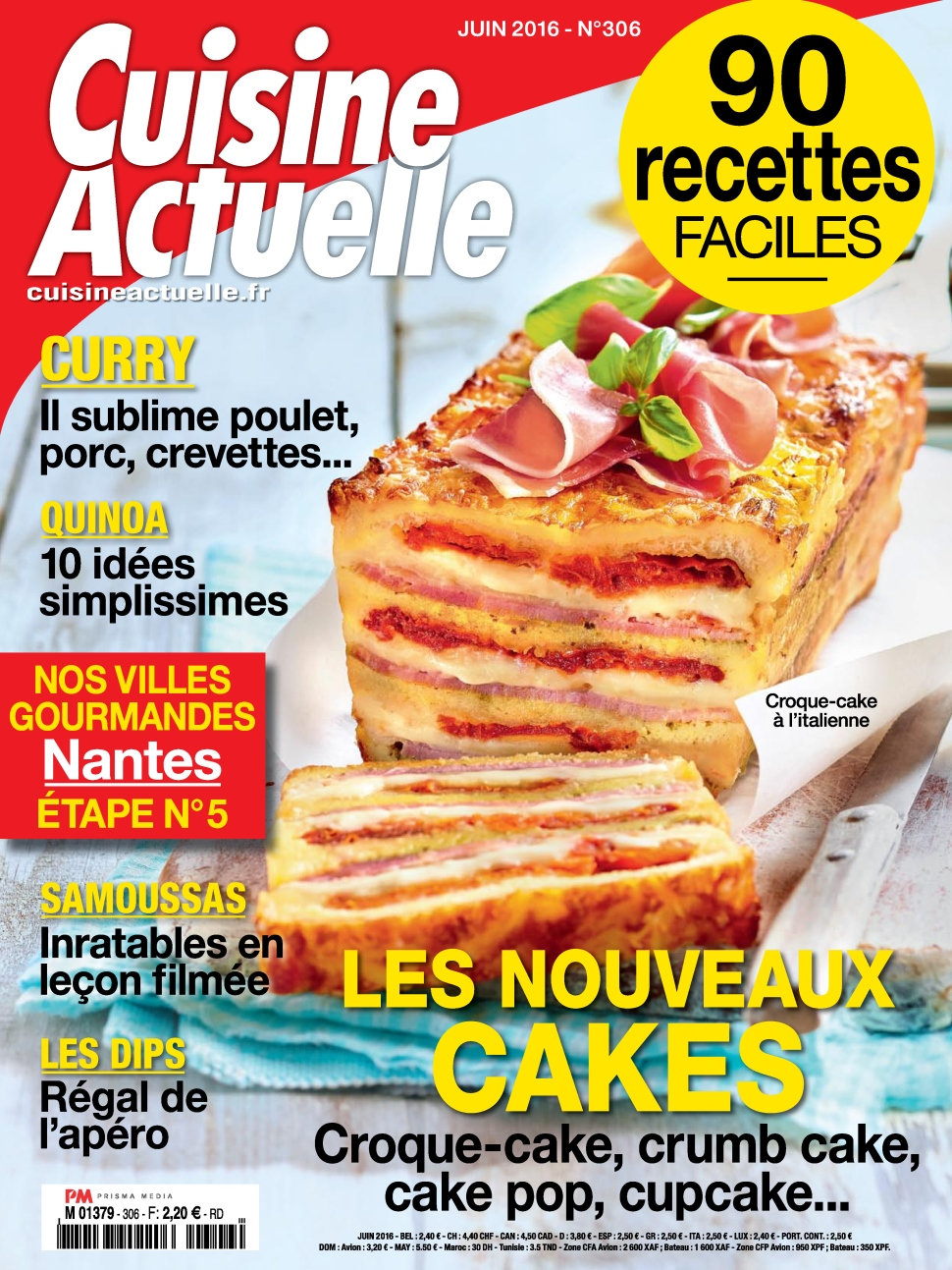 cuisine actuelle n 306 juin 2016 telecharger livres bd comics mangas magazines. Black Bedroom Furniture Sets. Home Design Ideas