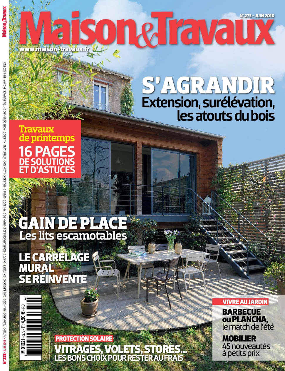 magazine maison travaux n 273 juin 2016. Black Bedroom Furniture Sets. Home Design Ideas