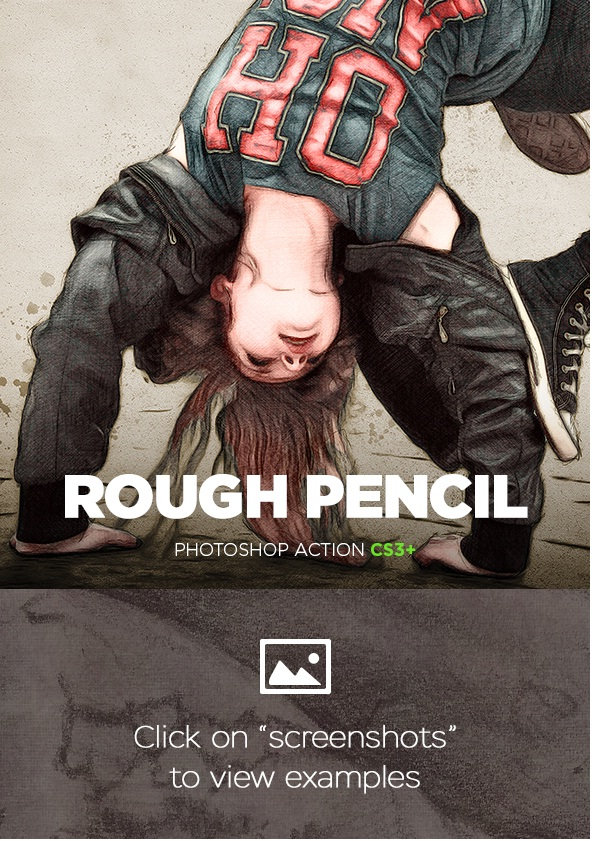 GraphicRiver - Rough Pencil Sketch Photoshop Action