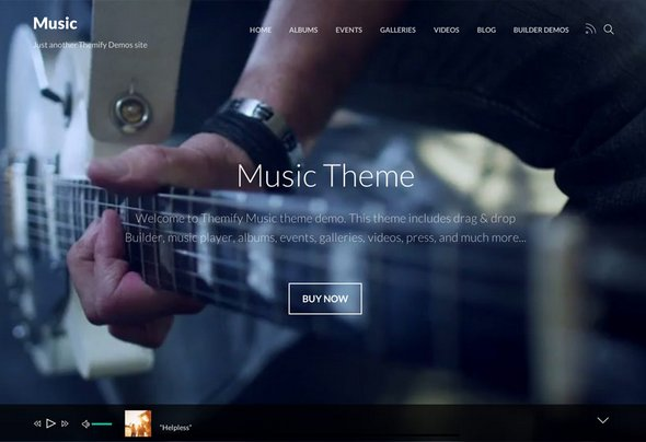 Themify - Music v1.5.7 - Artists, Events, Portfolios, Photographers, and Apps WordPress Theme