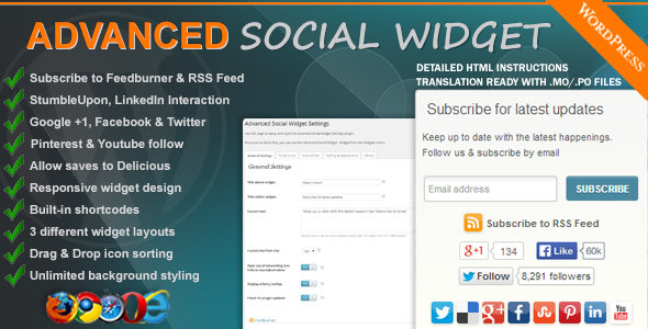 CodeCanyon - Advanced Social Widget v3.9