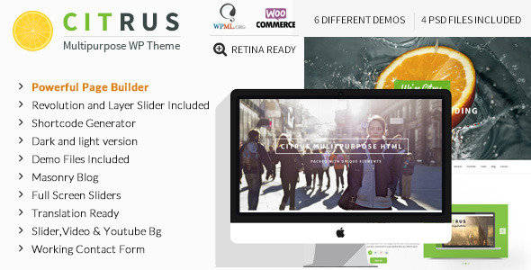 ThemeForest - Citrus v1.8 - Creative One Page Multi-Purpose WordPress Theme
