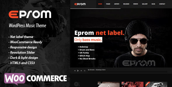 ThemeForest - Eprom v1.5.4 - WordPress Music Band & Musician Theme