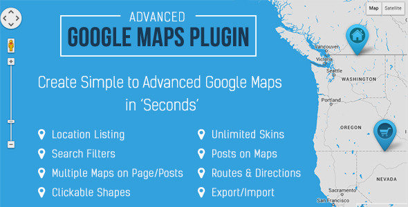 CodeCanyon - Advanced Google Maps v3.4.1 - WordPress Plugin