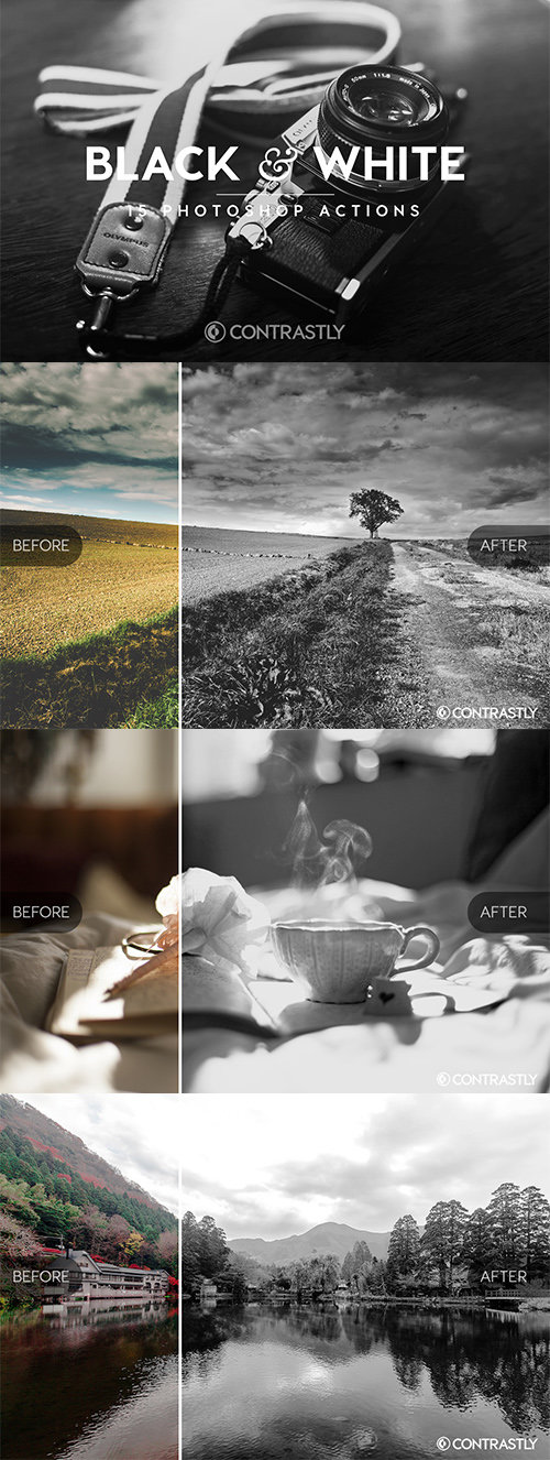 Creativemarket - Black & White Photoshop Actions