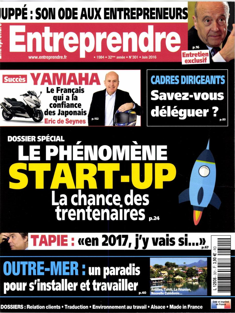 Entreprendre N°301 - Juin 2016