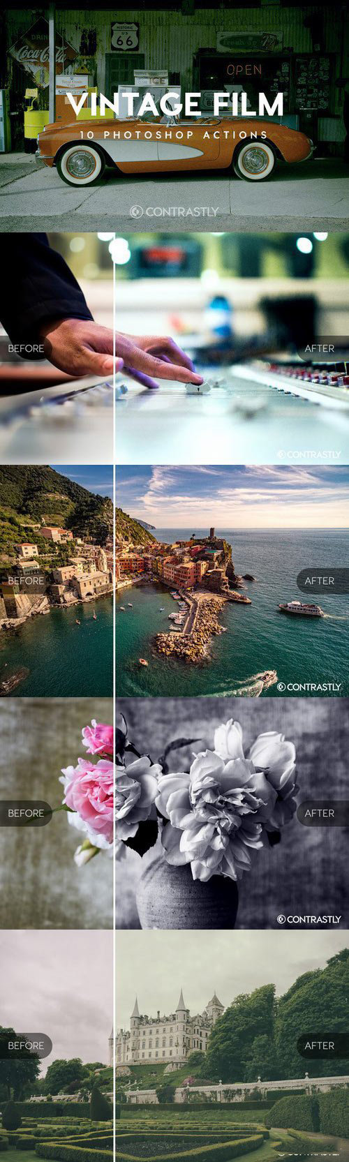 Creativemarket - Vintage Film Photoshop Actions