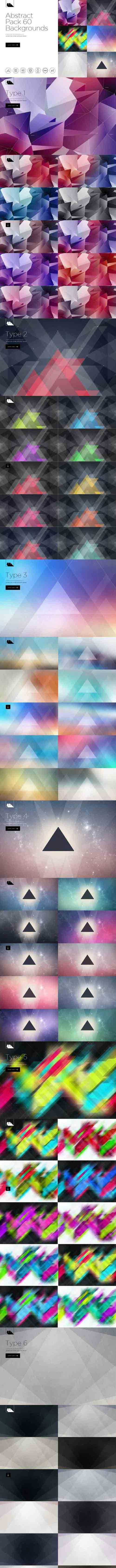 CreativeMarket - 60 Abstract Backgrounds Pack