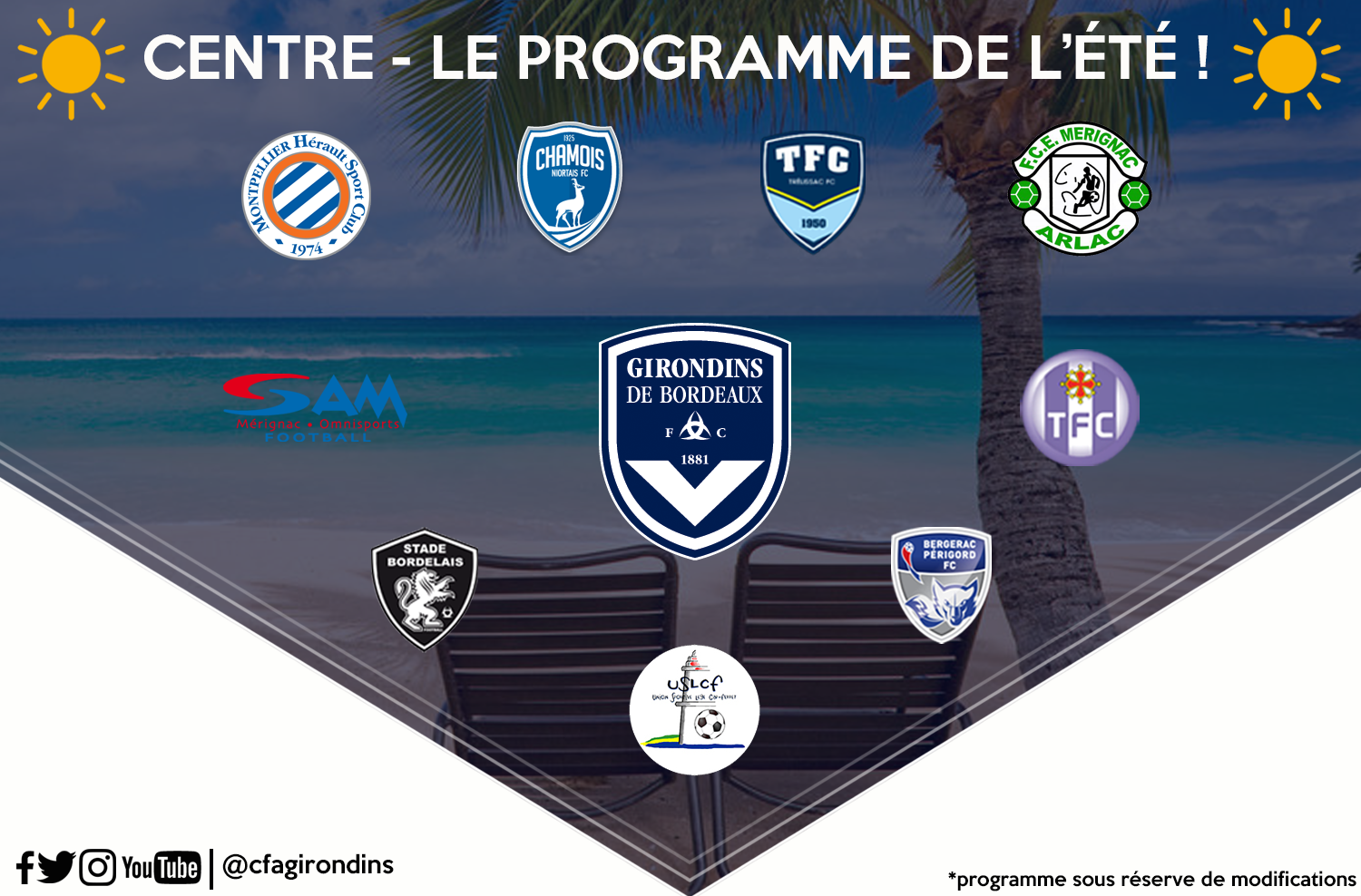 Cfa Girondins : Le programme des matchs amicaux - Formation Girondins