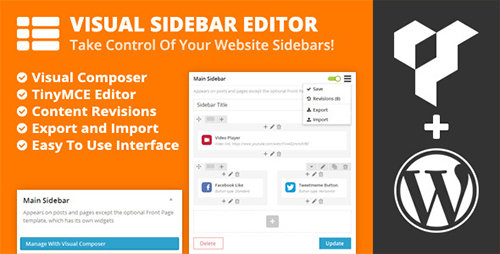 CodeCanyon - Visual Sidebar Editor for Wordpress v1.0.8