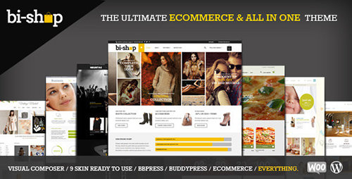 ThemeForest - Bi-Shop v1.6.2 - All In One: Ecommerce & Corporate WordPress Theme