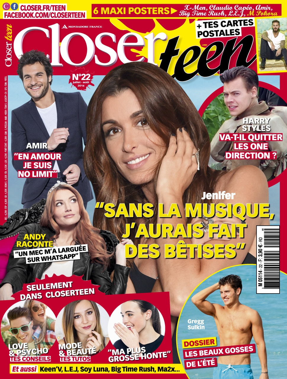 Closer Teen N°22 - Juillet/Aout 2016