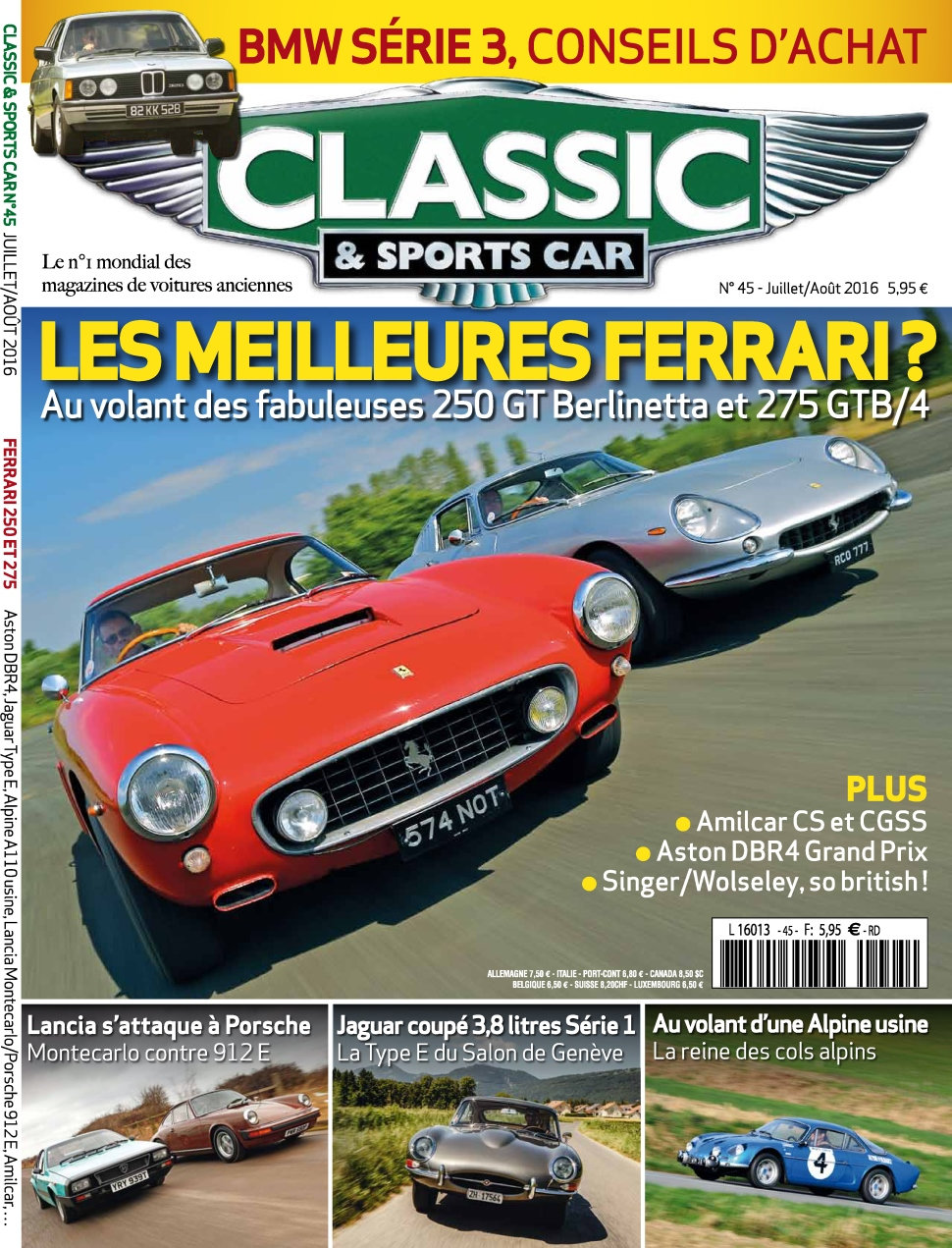 Classic & Sports Car N°45 - Juillet/Aout 2016