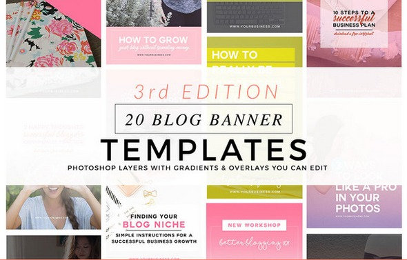 CreativeMarket - Blog Featured Graphics 3rd Edition