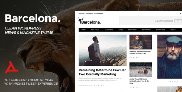 ThemeForest - Barcelona v1.3.1 - Clean News & Magazine WordPress Theme