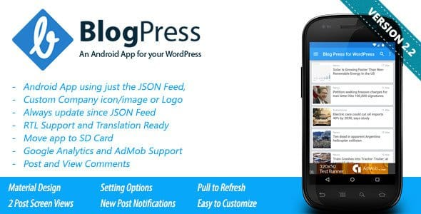 CodeCanyon - BlogPress v2.1 - An Android App for your WordPress
