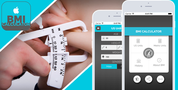 CodeCanyon - BMI Calculator for iOS v1.1 - Full Application with PSD