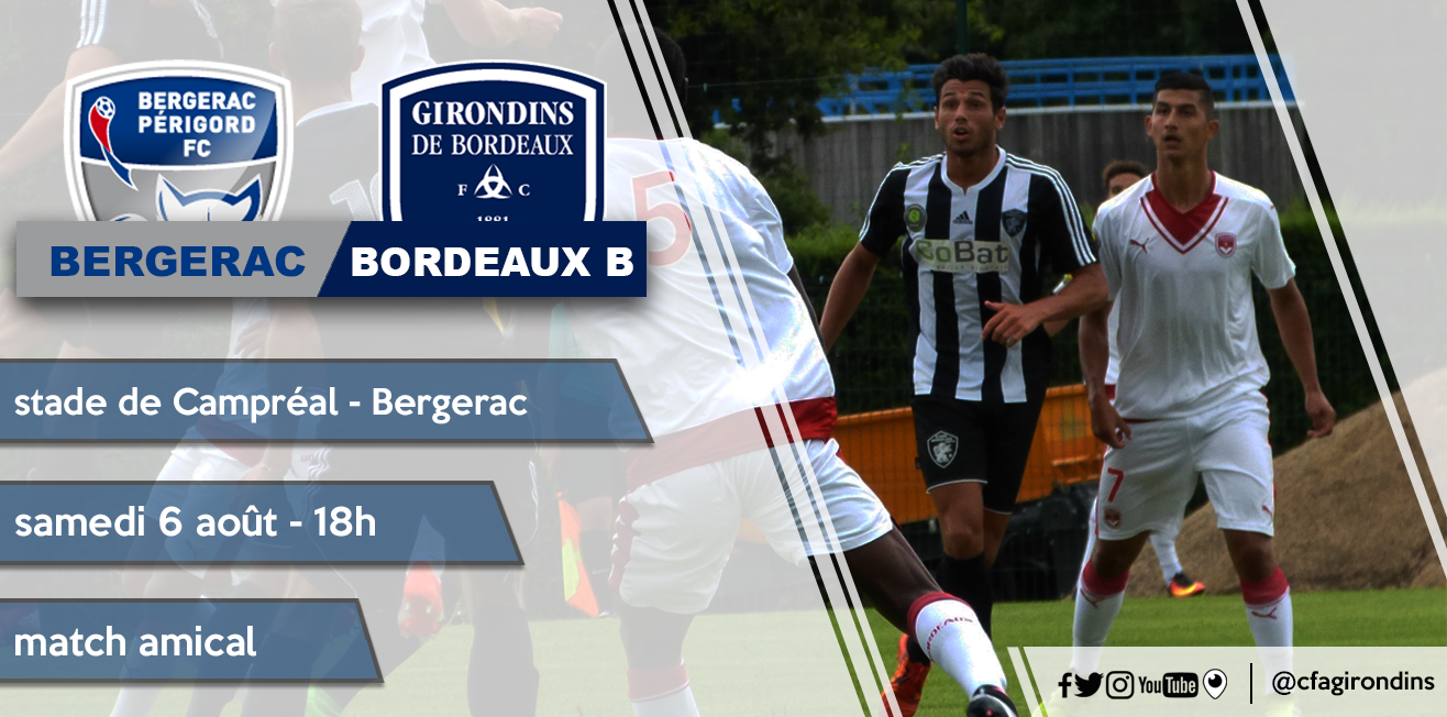 Cfa Girondins : Deux matchs amicaux au programme - Formation Girondins