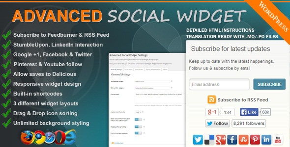 CodeCanyon - Advanced Social Widget v3.10 - WordPress Plugin