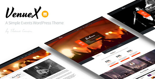 ThemeForest - Venue X v1.4 - Simple Events WordPress Theme