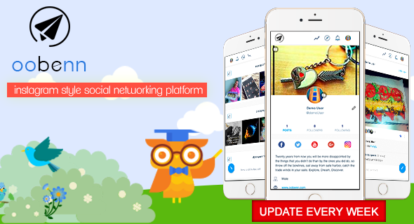 CodeCanyon - oobenn v1.2.1 - Instagram Style Social Networking PHP Script