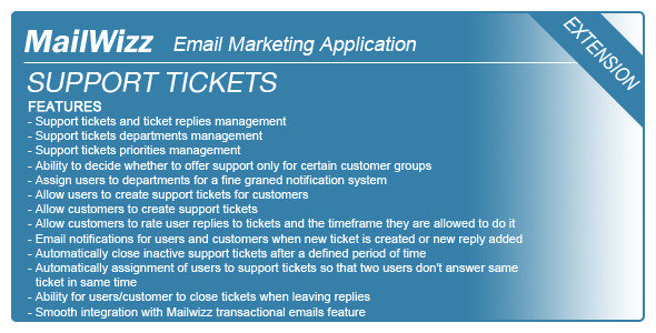 CodeCanyon - Support tickets system for MailWizz EMA v1.1