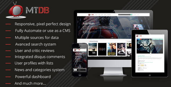 CodeCanyon - MTDb v2.9 - Ultimate Movie&TV Database PHP Script
