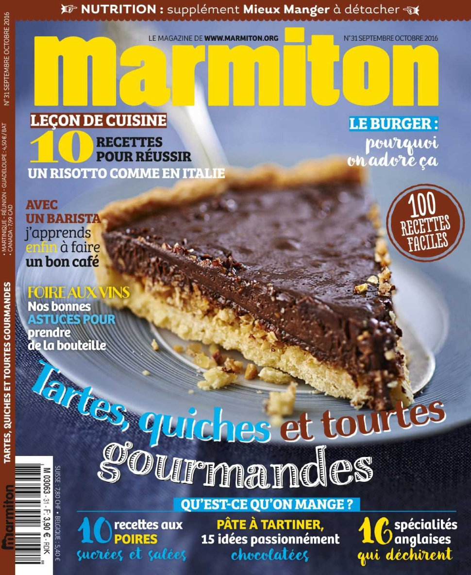 marmiton n 31 septembre octobre 2016 telecharger livres bd comics mangas magazines. Black Bedroom Furniture Sets. Home Design Ideas