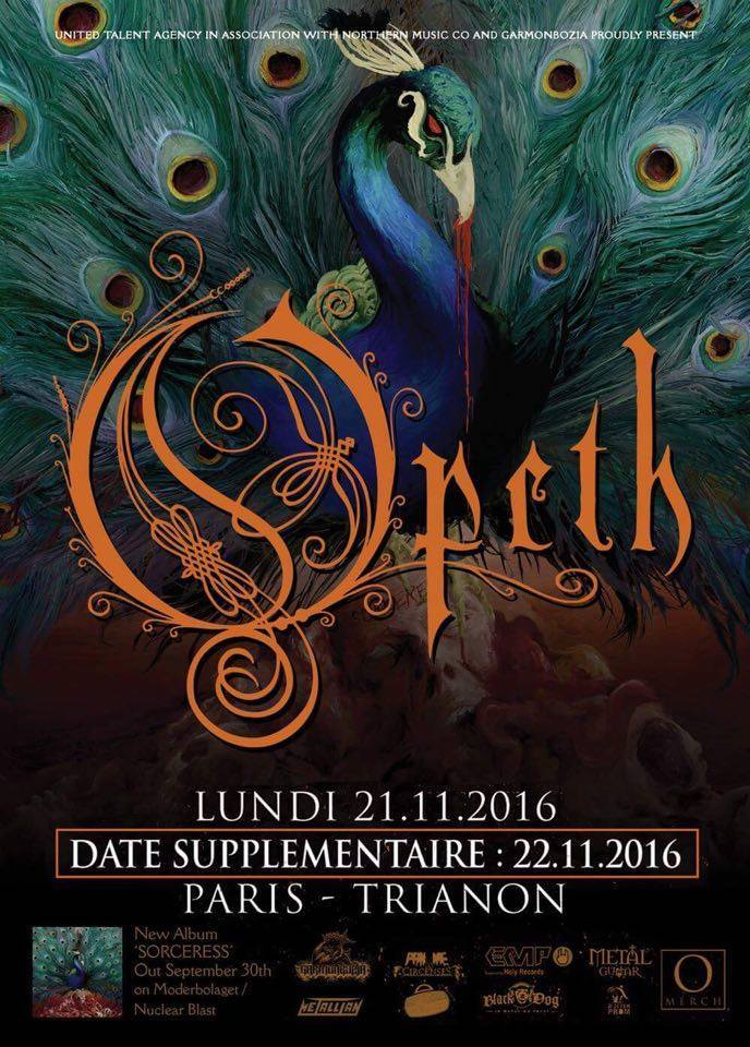 Opeth : Le Trianon, Paris - 21 & 22 novembre 2016