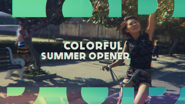 VideoHive - Colorful Summer Opener - Project for After Effects