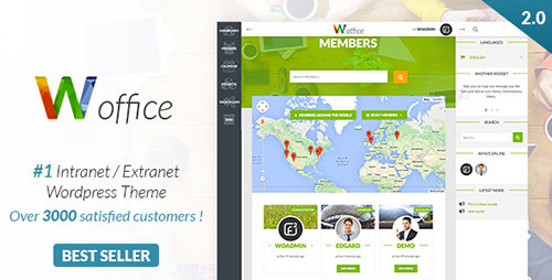 ThemeForest - Woffice v2.0.4 - Intranet/Extranet WordPress Theme