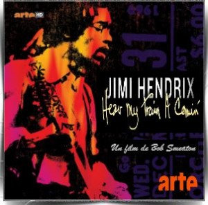 affiche Jimi Hendrix Hear my train a comin