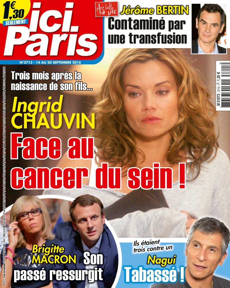 Ici Paris N°3715 - 14 au 20 Septembre 2016