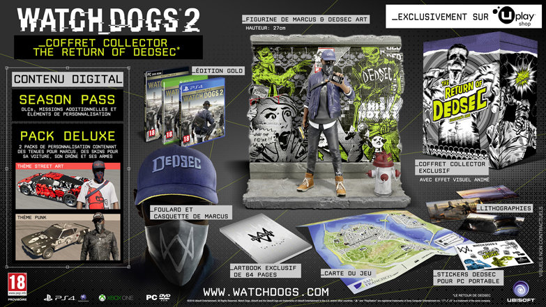 Watch Dogs 2 coffret collector