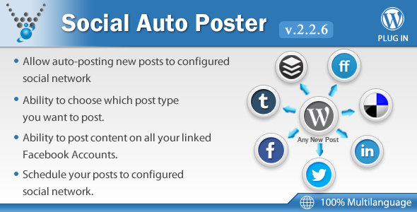CodeCanyon - Social Auto Poster v2.2.6 - WordPress Plugin