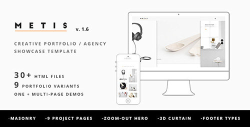 ThemeForest - Metis v1.6 - Creative Portfolio / Agency Template