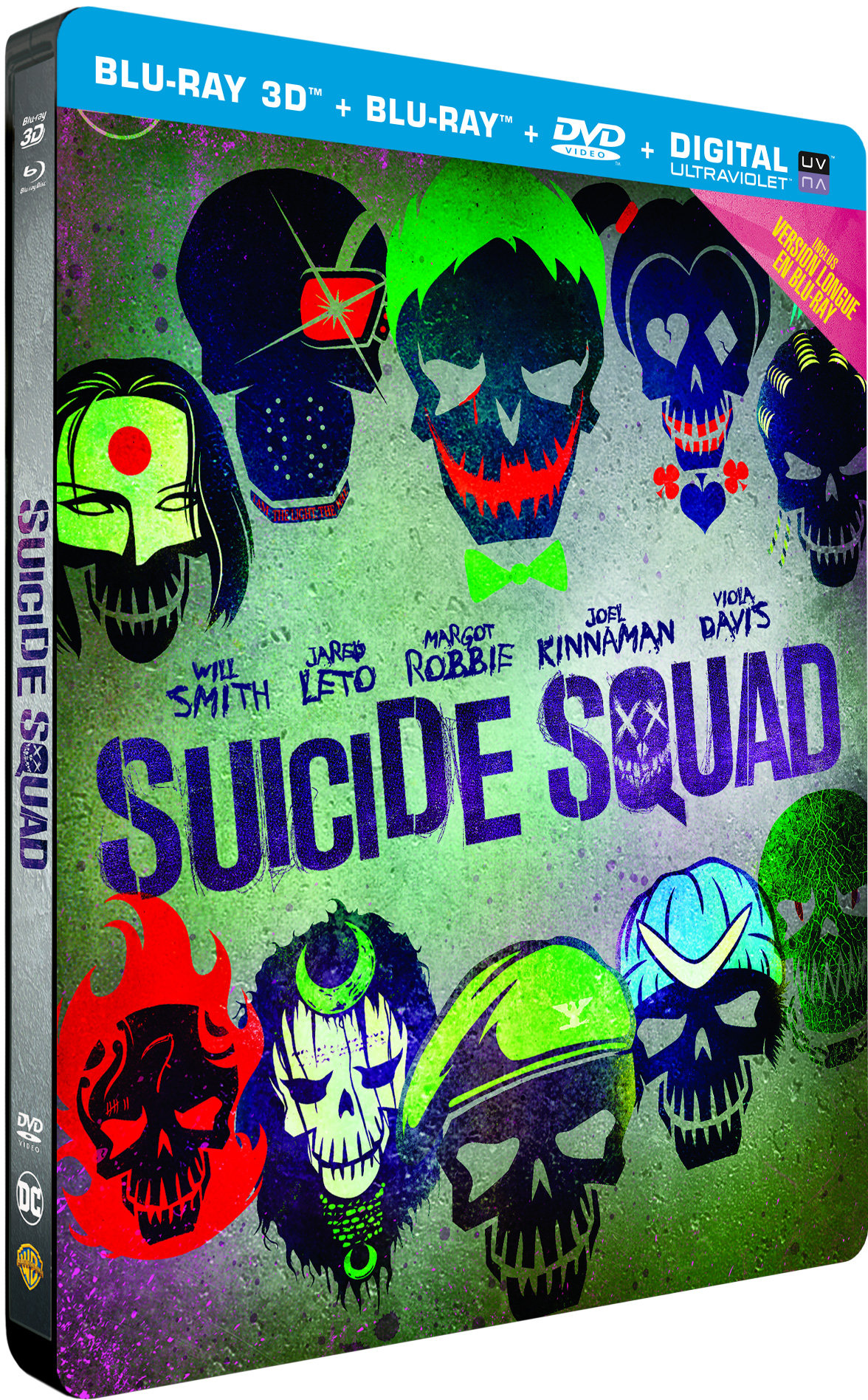 Suicide Squad : Steelbook Blu-Ray 3D + Blu-Ray + DVD
