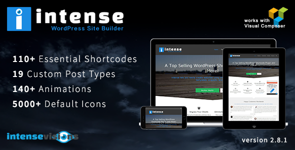CodeCanyon - Intense v2.8.1 - Shortcodes and Site Builder WordPress Plugin