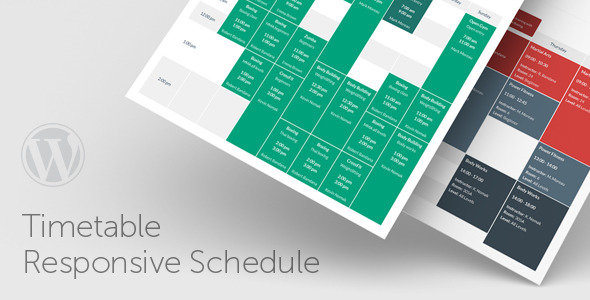 CodeCanyon - Timetable Responsive Schedule v3.8 - WordPress Plugin