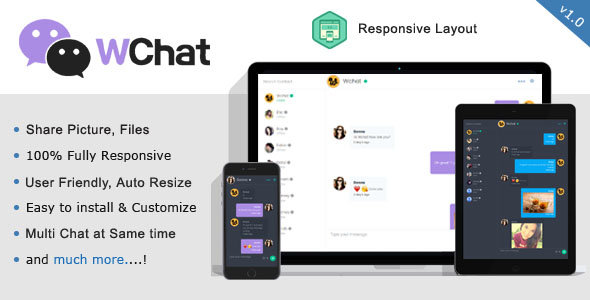 CodeCanyon - Wchat v1.0 - Fully Responsive PHP/AJAX Chat Script