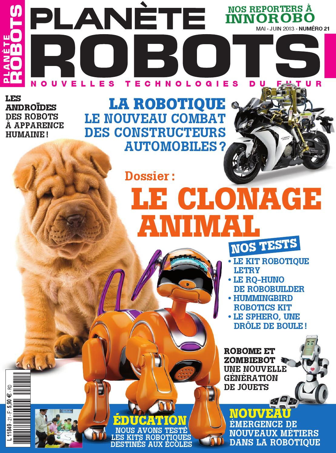 Planète Robots No.21 - Le Clonage Animal