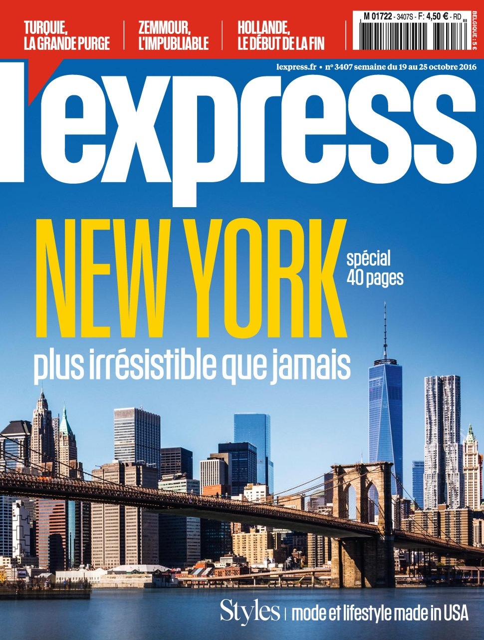 L'Express N°3407 - 19 au 25 Octobre 2016