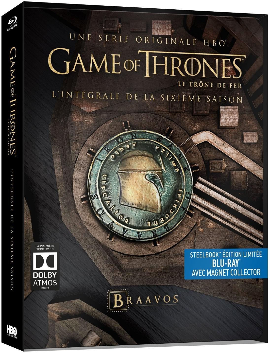 Games Of Thrones, Saison 6 - boîtier steelbook