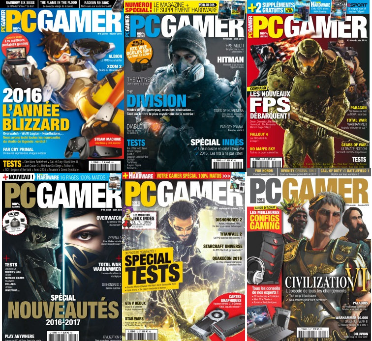 PC Gamer - Full Year 2016 Collection